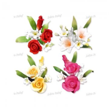 BOUQUET PICCOLI COLORATI ASS. H 10 PZ 20