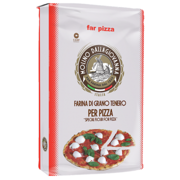 """DALLAGIOVANNA"" FAR PIZZA TIPO 00 S ROSSA KG 25"