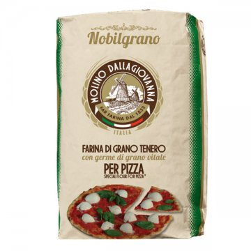 """DALLAGIOVANNA"" FAR PIZZA NOBILGRANO 0 R VERDE CON GERME DI GRANO KG 25"