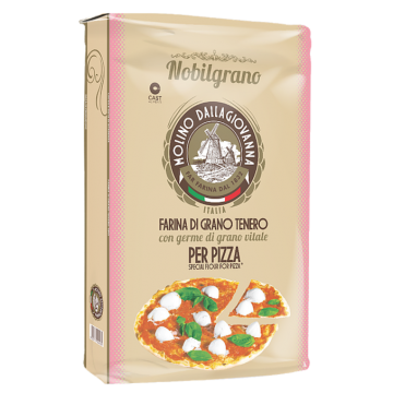"""DALLAGIOVANNA"" FAR PIZZA NOBILGRANO 0 E ROSA CON GERME DI GRANO KG 25"