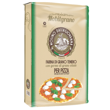 """DALLAGIOVANNA"" FAR PIZZA NOBILGRANO 1 R VERDE CON GERME DI GRANO KG 25"